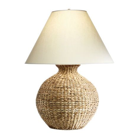 Rich In Texture Bold In Scale Each Natural Seagrass Lamp Is Individually Woven Over A Metal Frame So It Retains Its Graphic Shape Lamp Table Lamp Cool Lamps