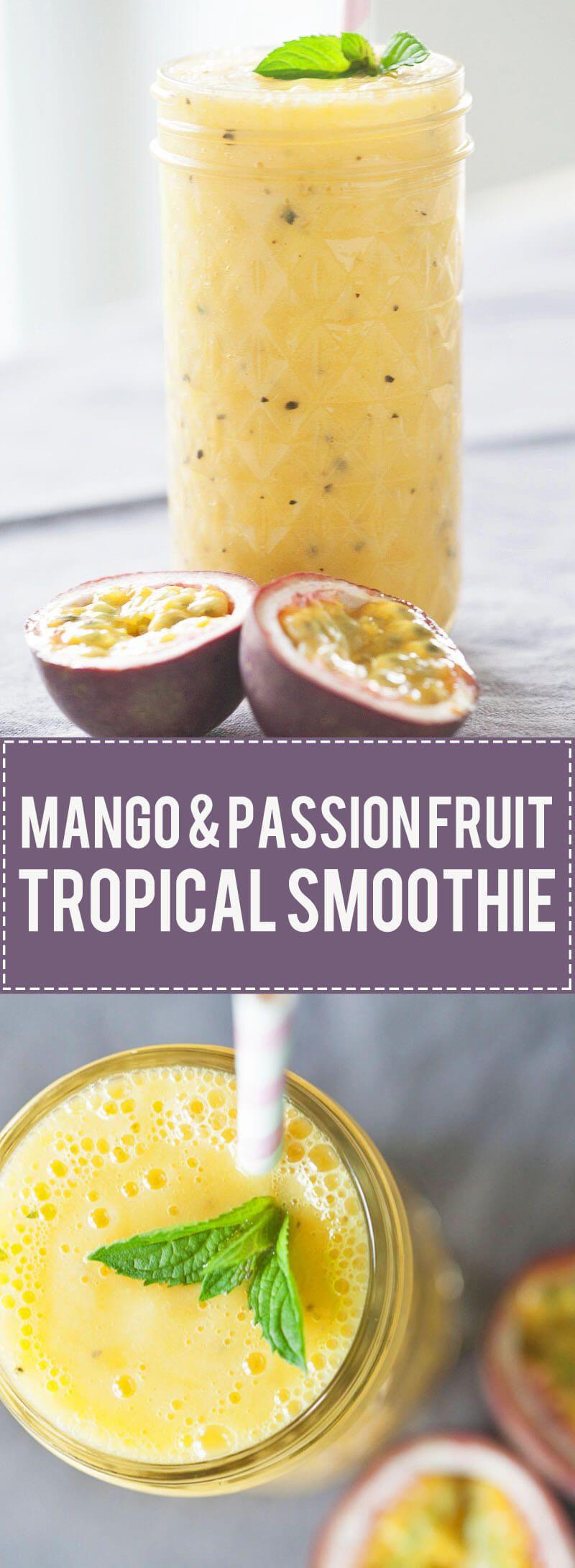 Mango & Passion Fruit Tropical Smoothie