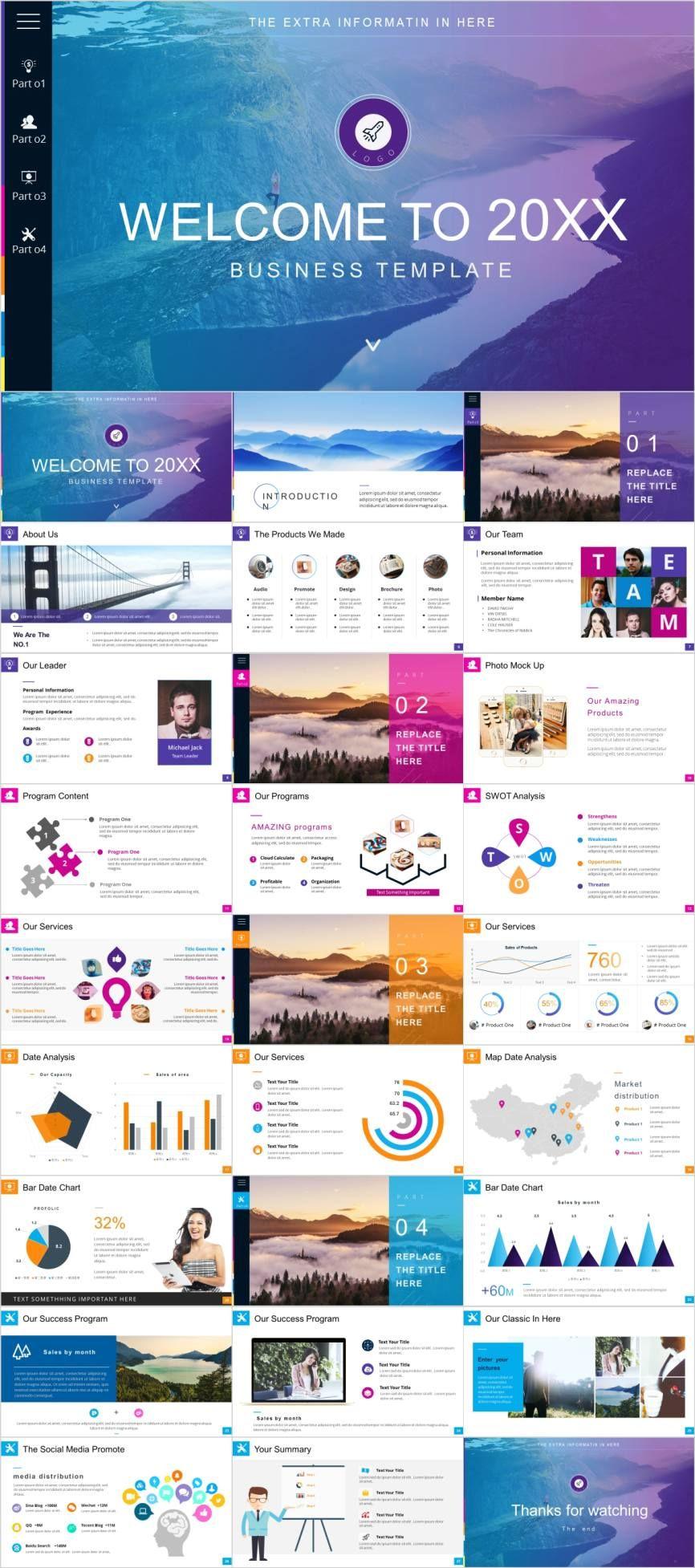 Multipurpose businessPowerPoint template