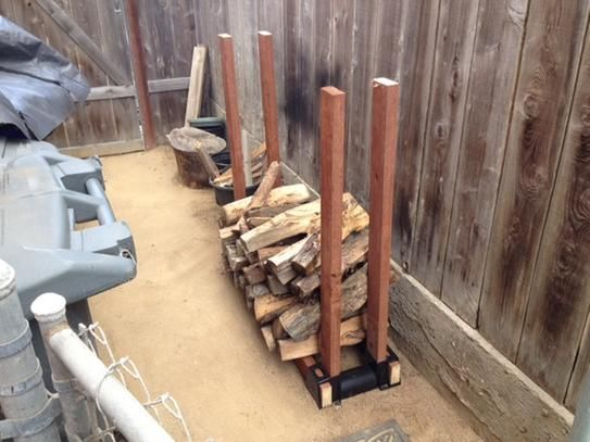 Firewood Rack Brackets Kit Adjustable Plastic Fire Wood Log 2 x 4 Storage System