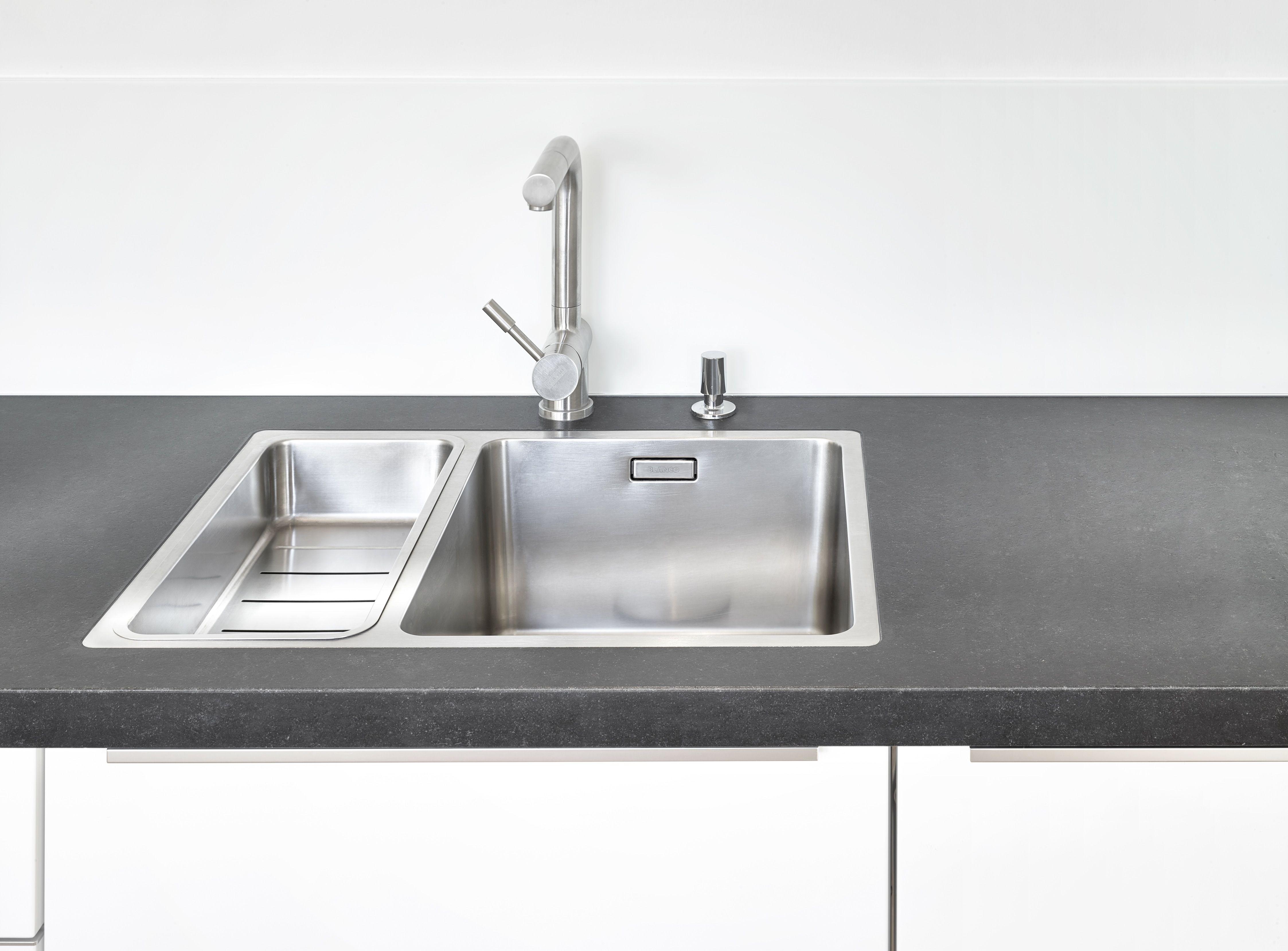 Spülbeckenaufnahme Küchenarbeitsplatte Nero Assoluto Zimbabwe (3 cm ...