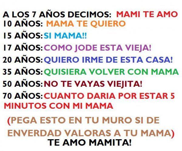 Frases Para El Facebook: Imagenes Bonitas Para Facebook: Mami Te Amo