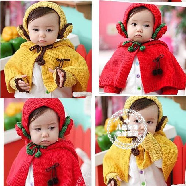 envío gratis niño bebé térmico capa con capucha orejeras piezas de ...
