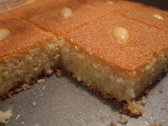 Harissa Harisa Haresa Arabic Semolina Cake Recipe Food Com Recipe Semolina Cake Recipe Semolina Cake Arabic Sweets Recipes