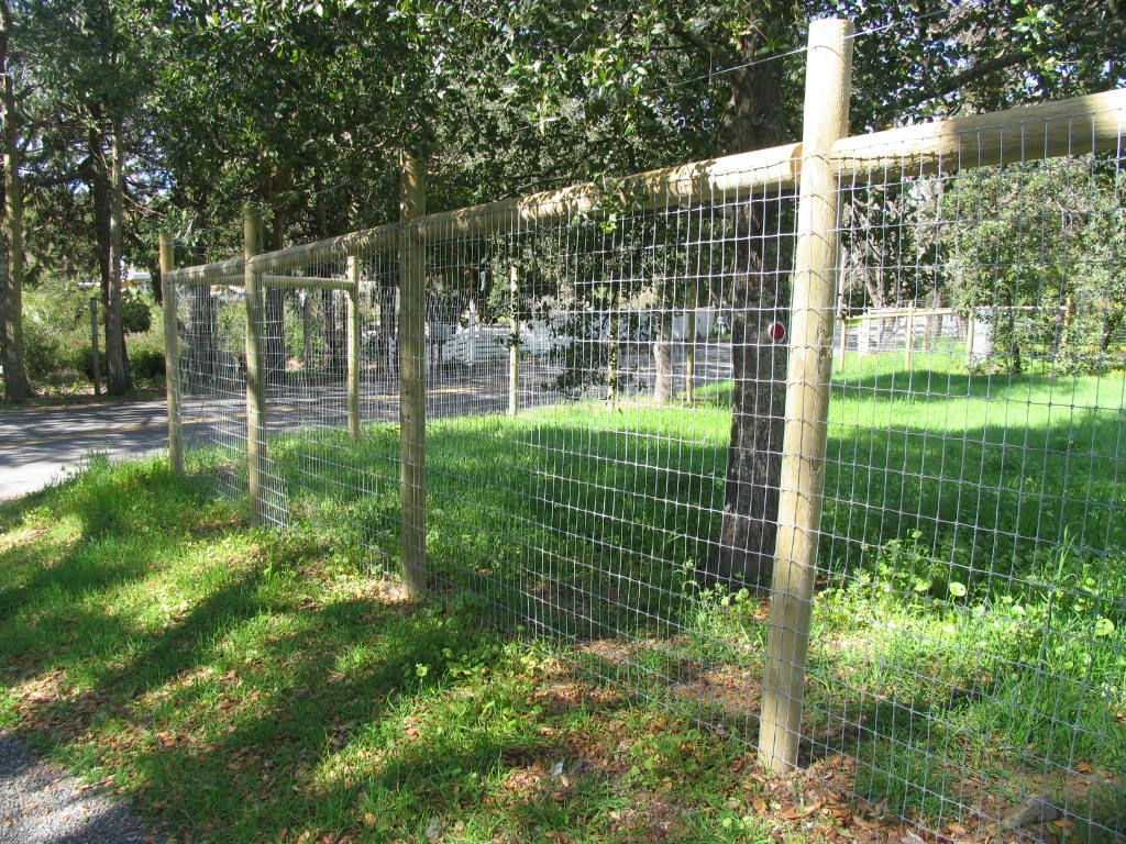 Wire deer fence by arbor fence inc good idea for growing for Front garden fence designs