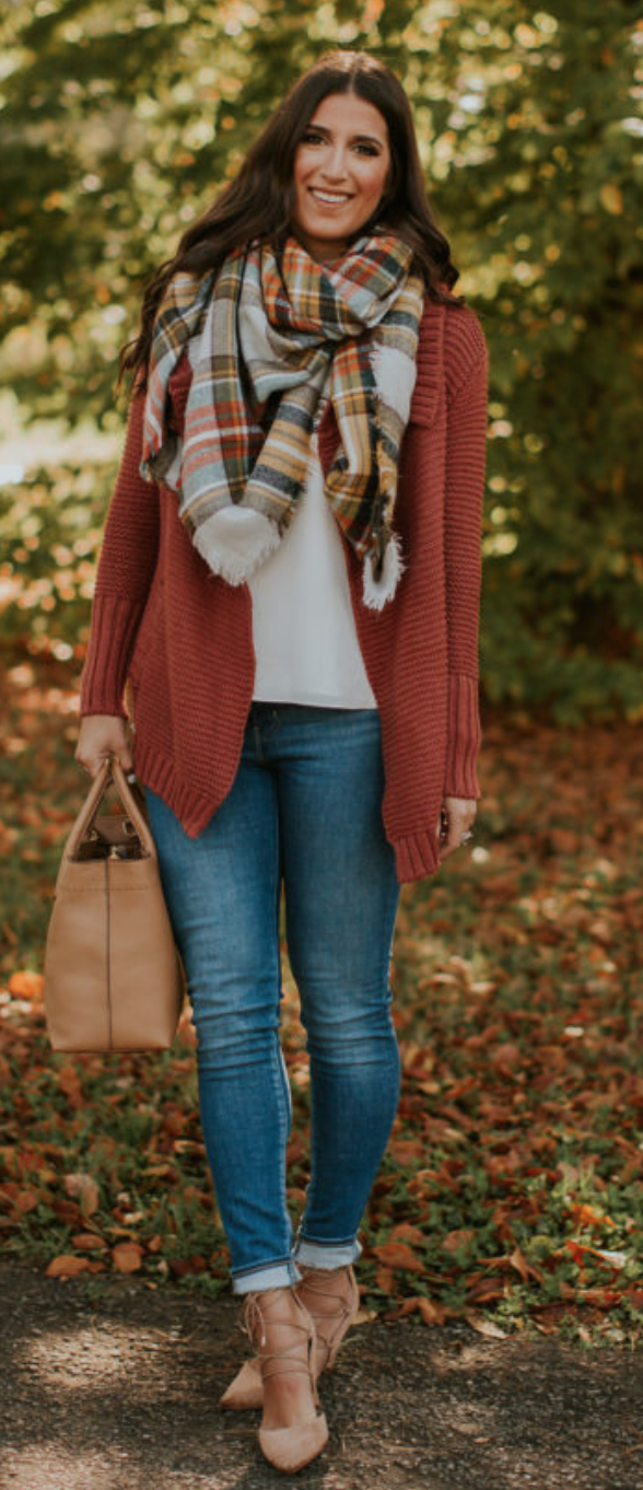 Red flannel vest womens  fall cardigan  Womenus Fashion u Outfits  Pinterest  Bodies