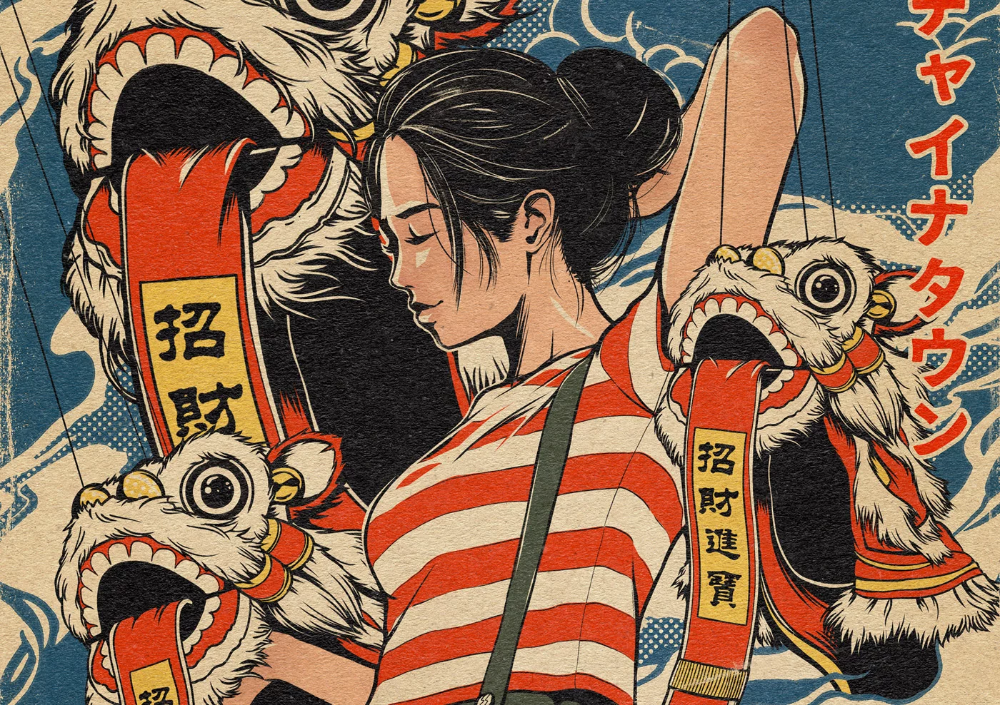 Vintage Japanese Style Graphics Illustrations