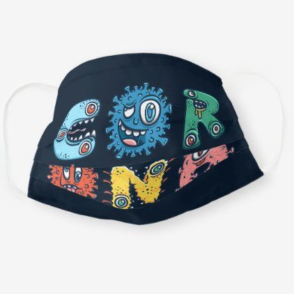 Funny CORONA Virus Typography Germs Cloth Face Mask | Zazzle.com