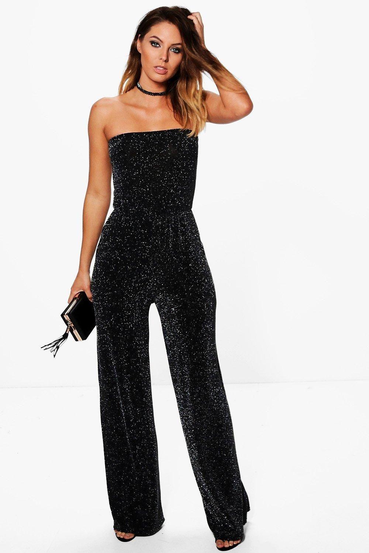 ece5253a0d4a Beth Strapless Wide Leg Sparkle Jumpsuit