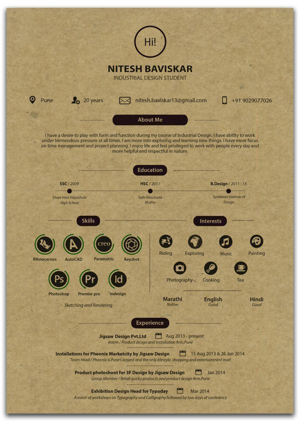 Nitesh Baviskar Resume - Resume design, Graphic design resume, Resume design creative, Interior design resume, Graphic design cv, Resume design template - Nitesh Baviskar Resume