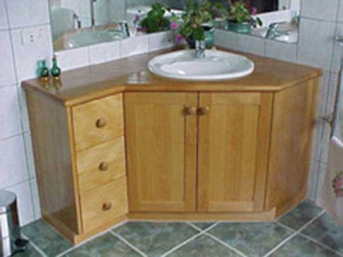 Photo of corner bathroom vanity with sink – lanzhome.com