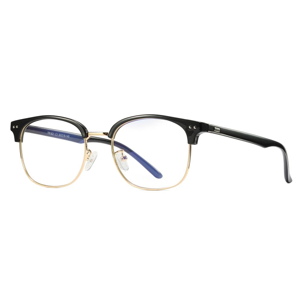 d8e2ce8602 Peekaboo computer optical glasses men anti blue light 2019 black semi  rimless women eyewear frames tr90 half metal unisex  glasses   opticalglasses ...