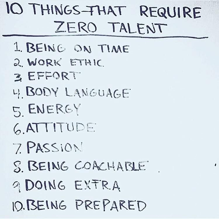 10 Things That Require Zero Talent Quotes Success