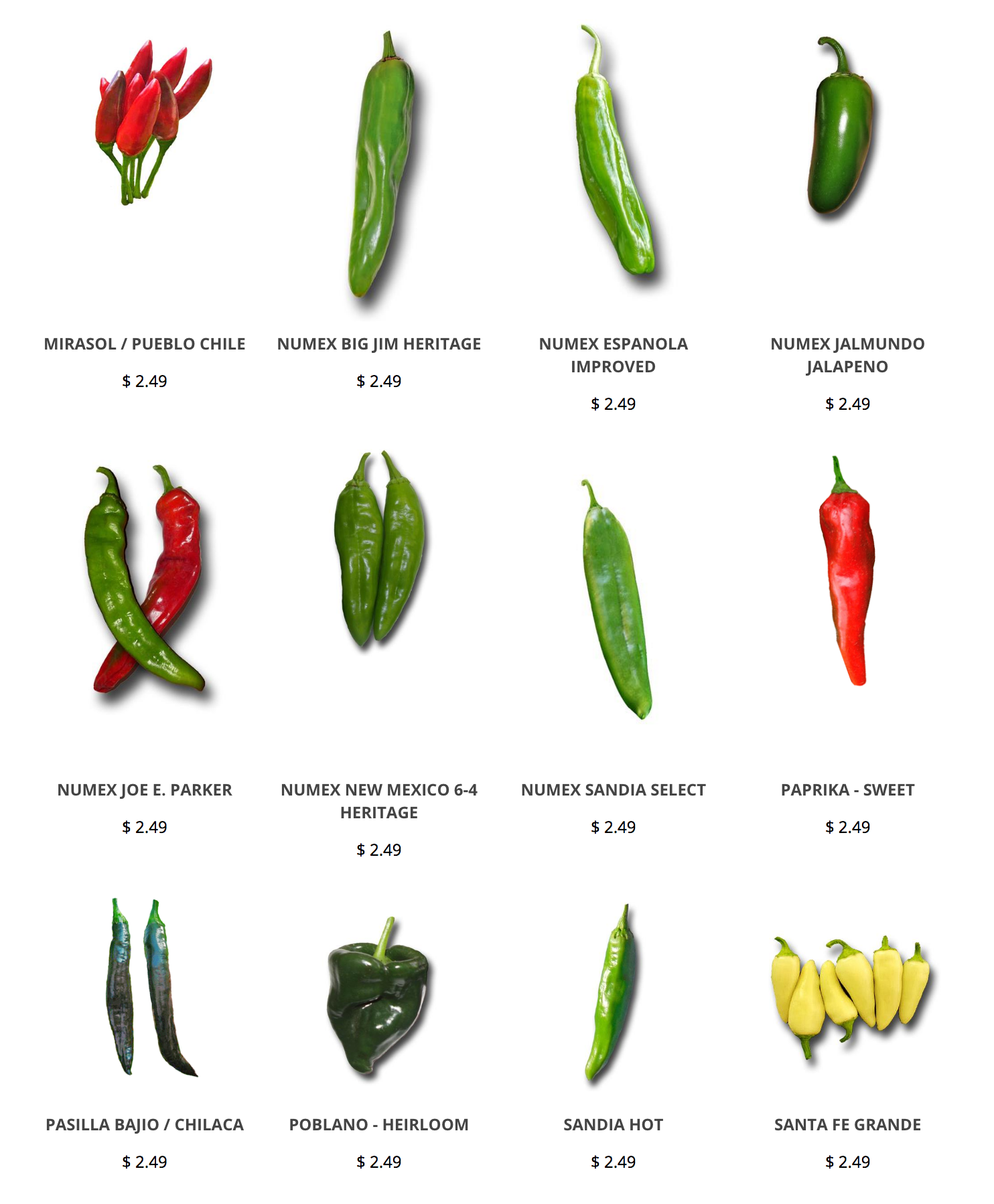 Green Chile Seeds From Sandiaseed Com Green Chile Hot Pepper