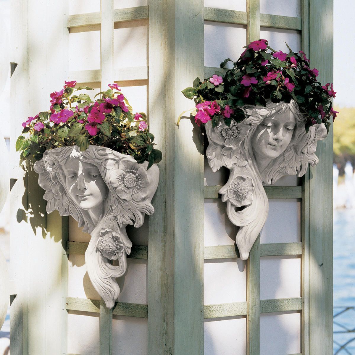 French greenmen wall sculpture set outdoors u places to go