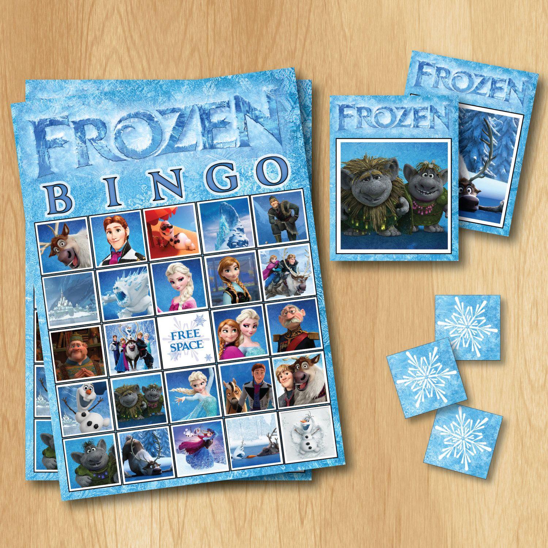 Frozen Bingo Game Frozen Birthday INSTANT by PrintMeParties 499