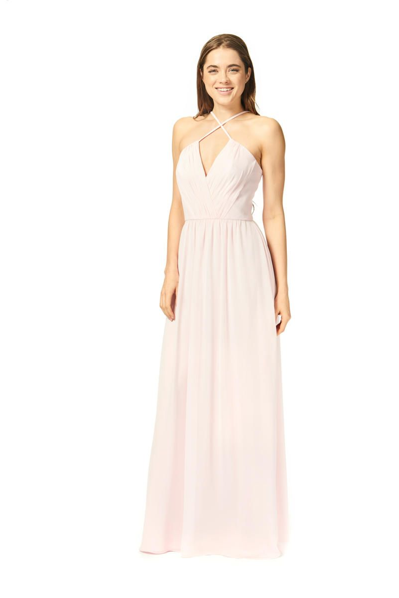 Style Ic 1871 From Bari Jay Is A Gathered V Neck Iridescent Chiffon Bridesmaid
