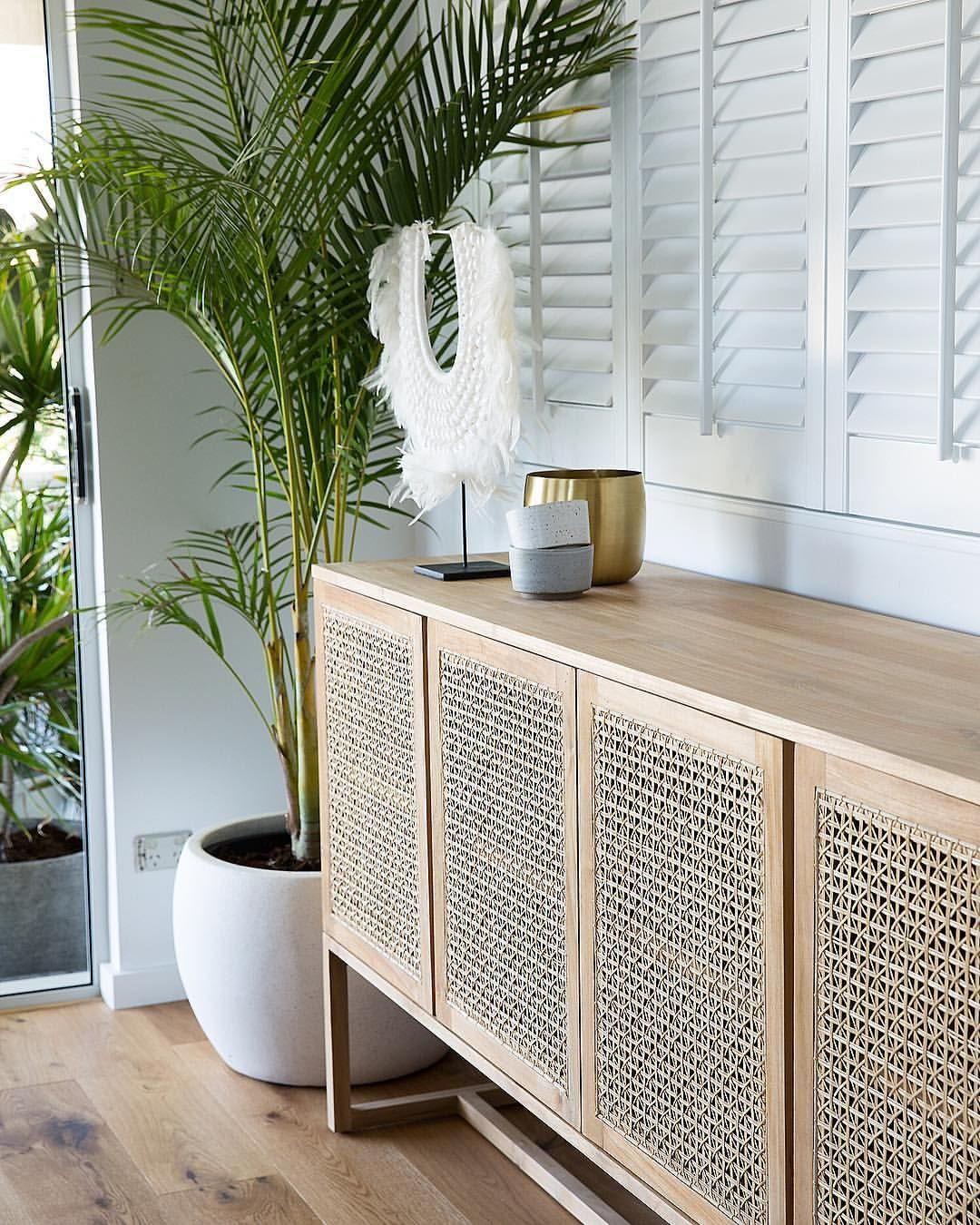 Another View Of The Beautiful Globewest Woven Willow Buffet From Our Mintedinteriorscoast