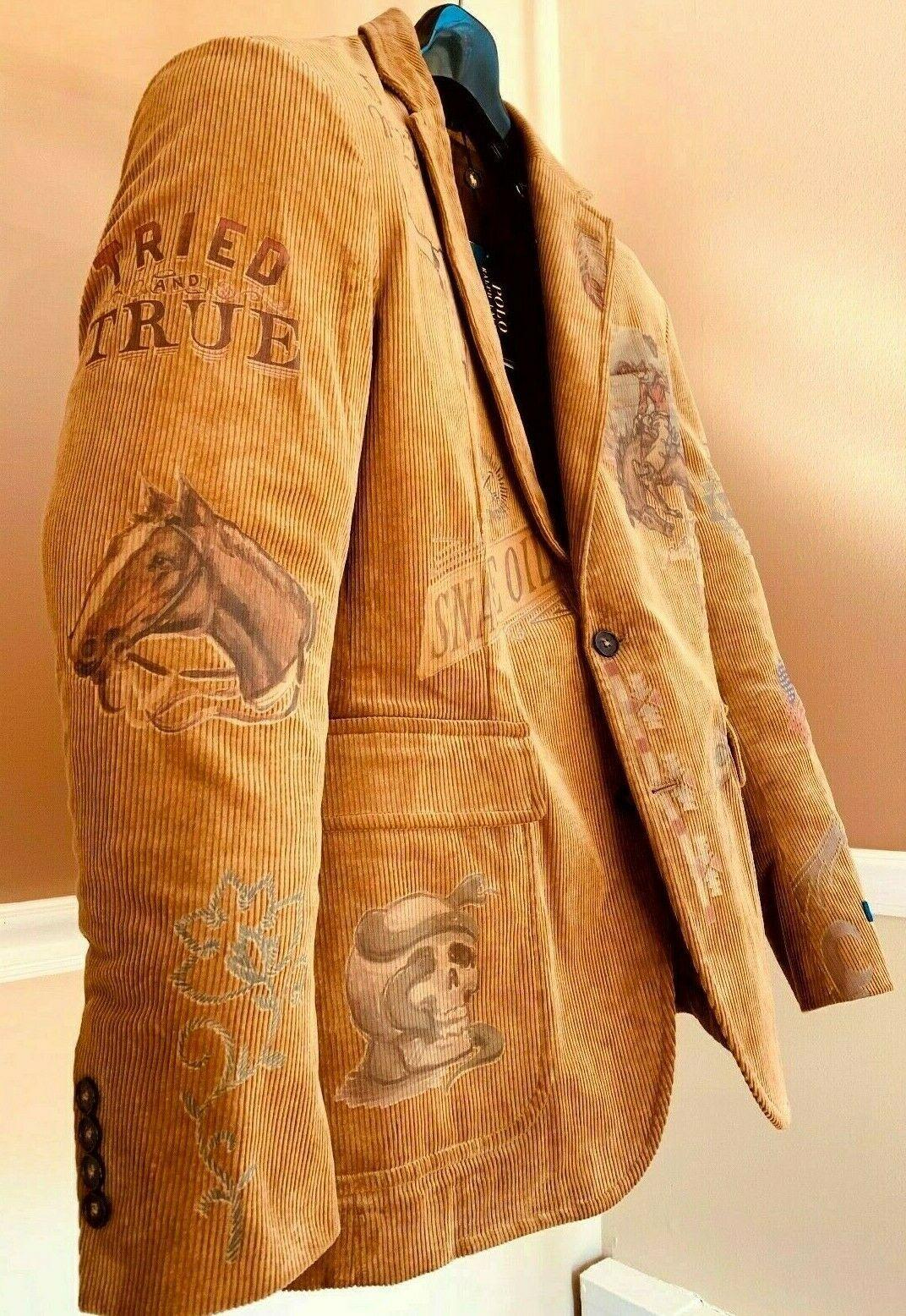 Polo Ralph Lauren Rodeo Western Colorado Cowboy Artwork
