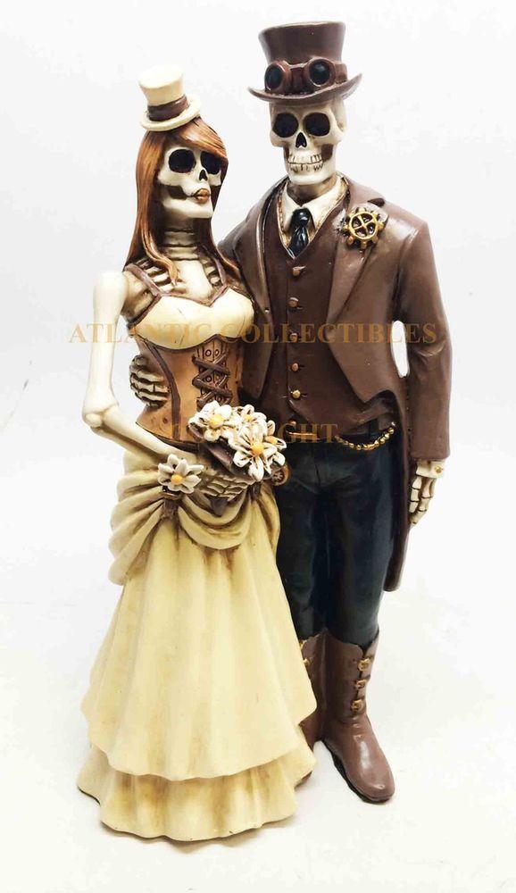 Love Never Dies Socialite Steampunk Skeleton Couple