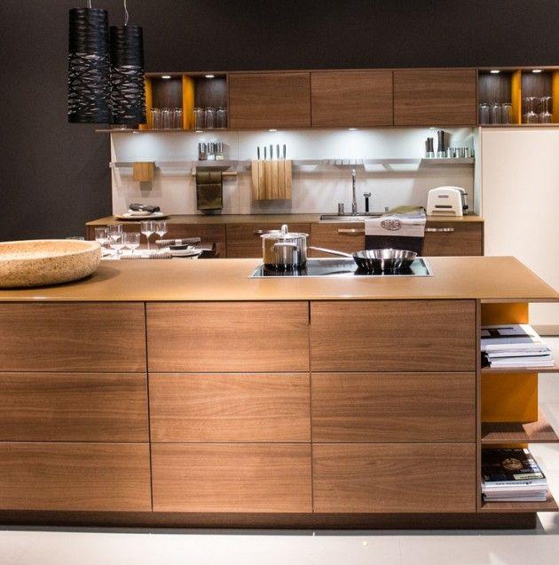 Wandplatten küche  22 Minimalistic Wooden Kitchen Designs | Küche, Küchen Design und ...