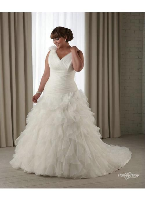 full figured wedding dresses bridal v neck organza full figure wedding dress