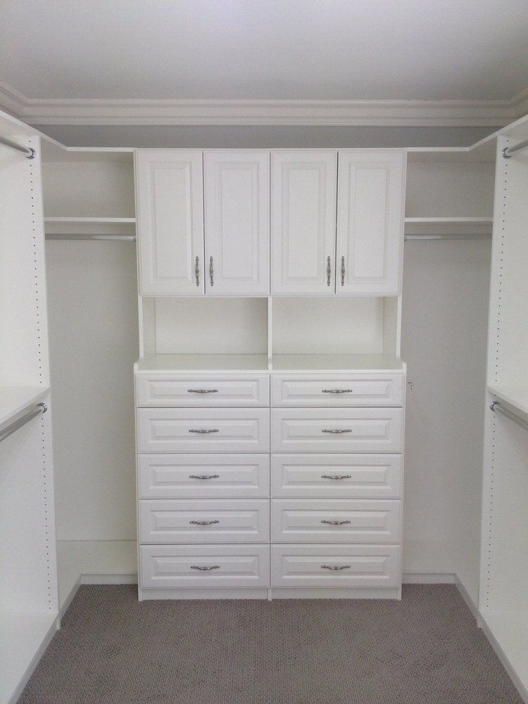 Tailored Living Featuring PremierGarage: A Walk In Closet Organizer With  Added Drawer Space.