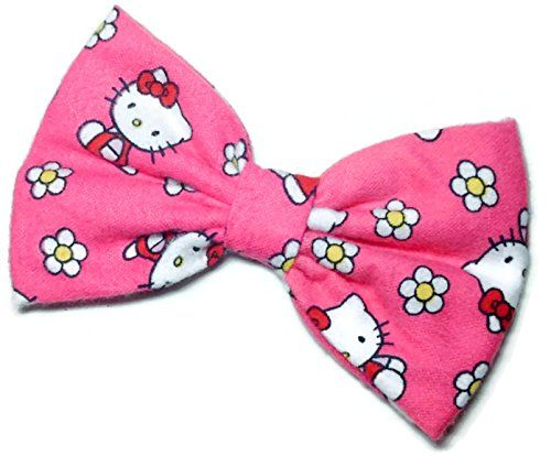 Pink Hello Kitty Hair Bow Clip Handmade By Sweet in the