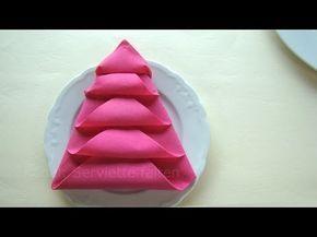 Pliage Serviette Noël: Le Sapin   Pliage De Serviette En Papier    Décoration Pour Noël   YouTube