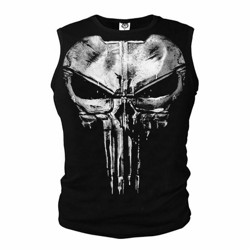 Men/'s Tank Top Ghost Sports The Punisher Skull Slim Cosplay Vest Workout T-shirt