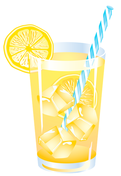 clipart summer drink lemon vector clip drinks lemonade glass vacation drinking juice yopriceville right transparent festa clips cupcake tequila chalk