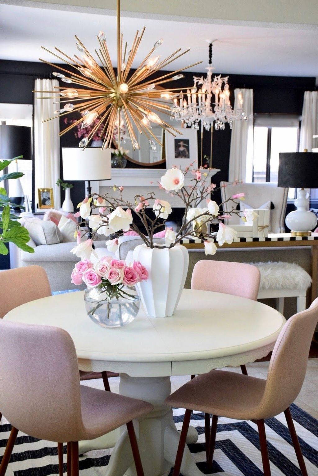 48 Stunning Spring Living Room Decor Ideas To Refresh Your Mind Homyhomee Spring Living Room Spring Living Room Decor Home Decor Spring ideas dinning room