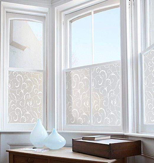 Elegant Amazon.com: Rabbitgoo Privacy Window Film Non Adhesive Film Glass Window  Cling Decorative