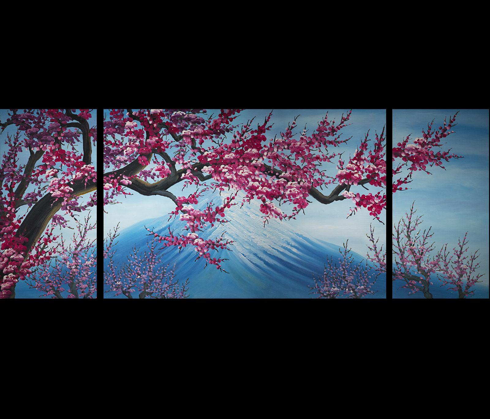 Cherry blossom canvas wall art modern abstract art home