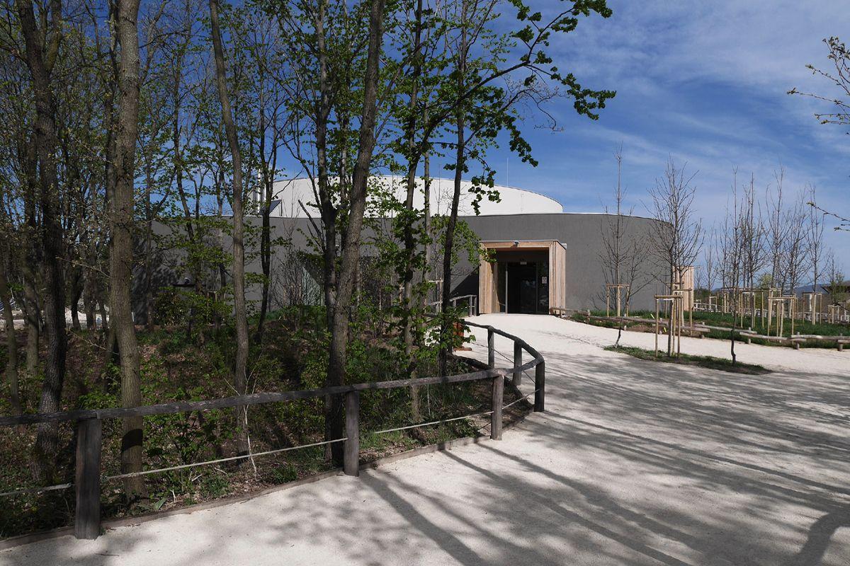 ELEPHANT HOUSE / Location: Zoo Veszprém / Veszprém H-8200 Hungary / Planning: 2011-2012 / Completed: 2014 / Project area: 1150 sqm (building) + 5000 sqm enclosure