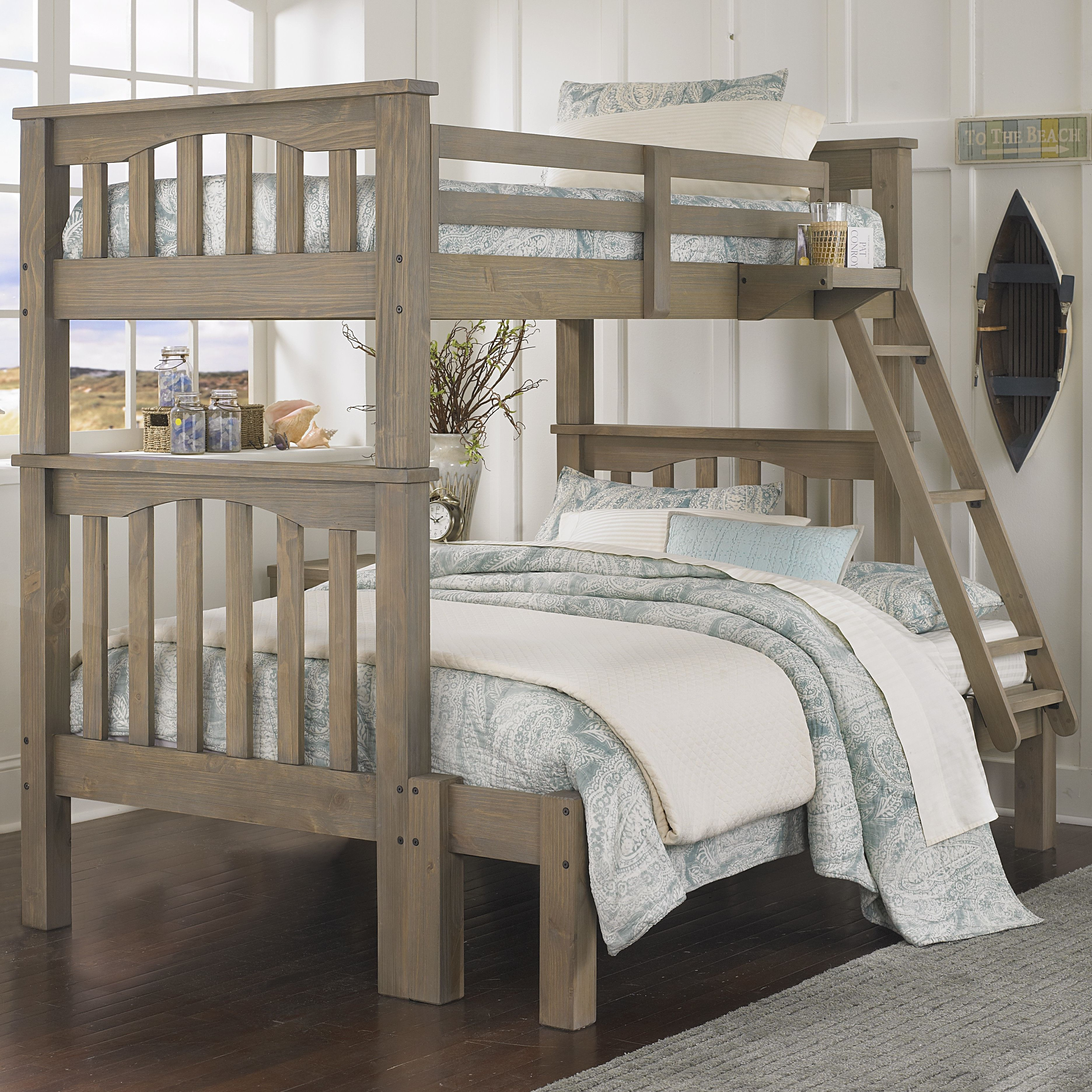 King size loft bed with stairs  NE Kids Highlands Harper Twin over Full Bunk  Girlsu new bedroom