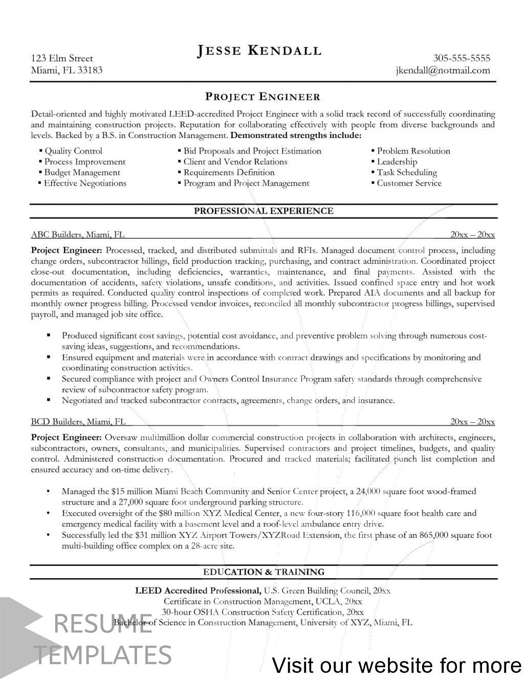 Resume Template Adobe Illustrator In 2020 Engineering Resume Project Manager Resume Job Resume Samples