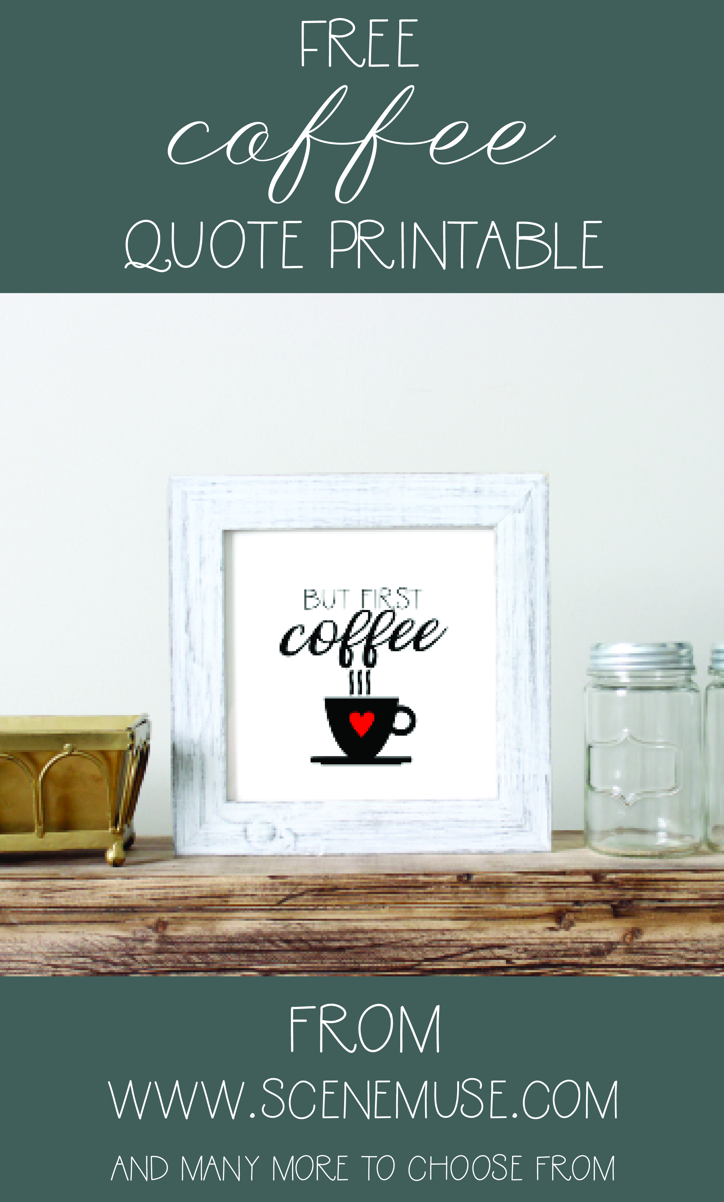 Free But First, Coffee Quote Print    Free Printables   Quote prints