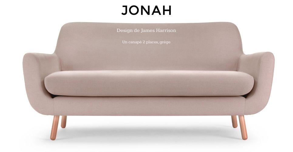 Jonah Un Canape 2 Places Grege Made Com Warm Grey James Harrison 2 Seater Sofa