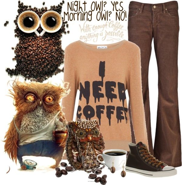 """Not a Morning Owl"" by trish1972 on Polyvore"