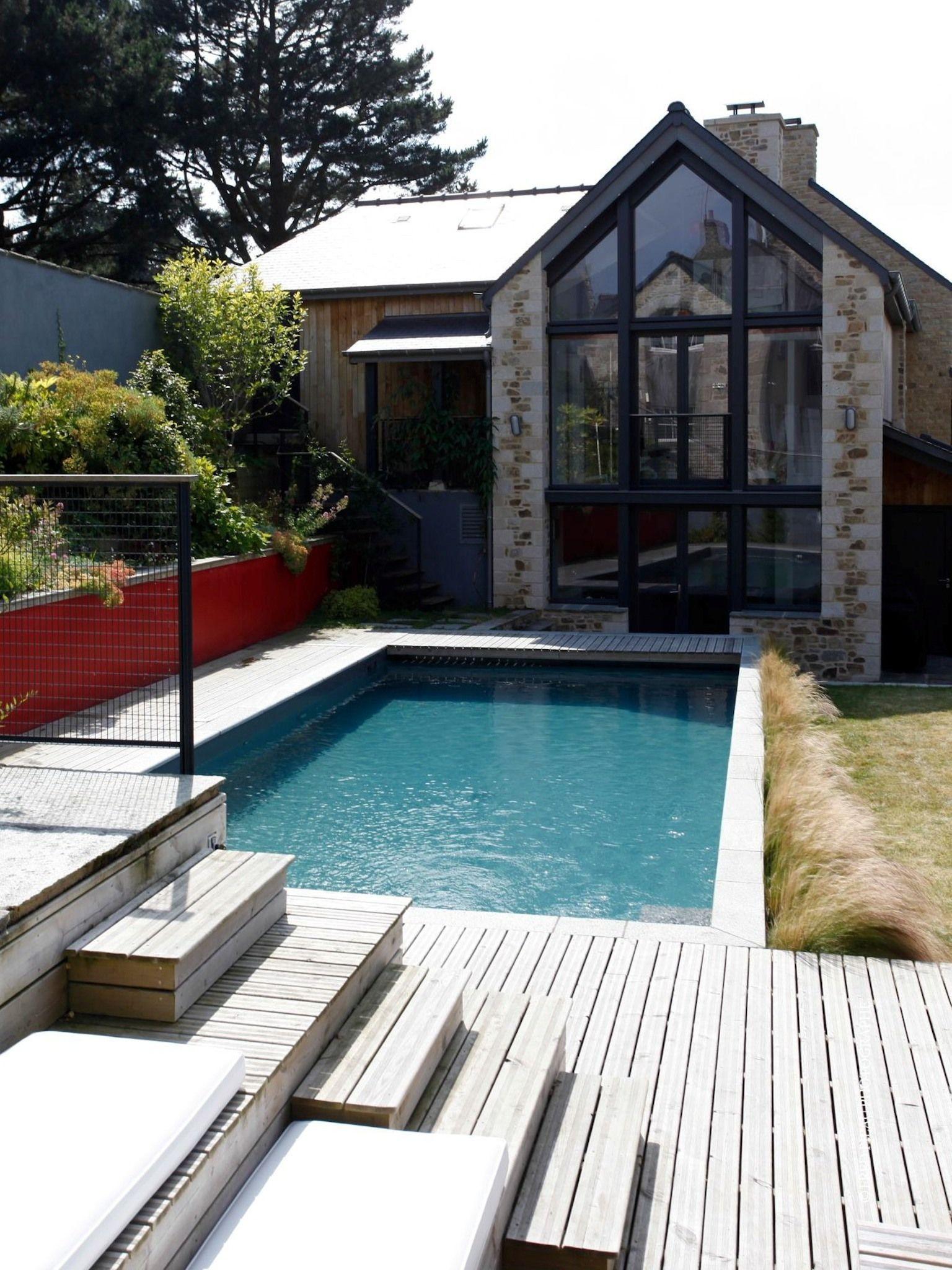 L esprit familial par l esprit piscine 9 x 4 m Revªtement gris