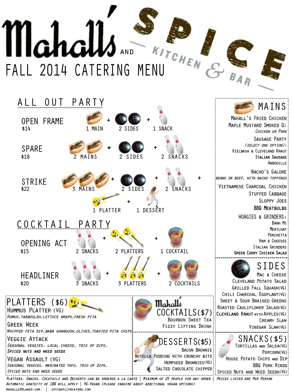 Mahall S Partnering With Spice Kitchen Bar For In House Events Kitchen Bar Catering Menu Spices