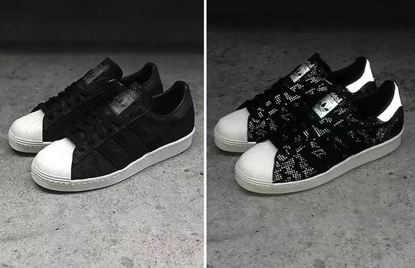 Adidas Originals Superstar 80s Camo Black Leather Sneaker B33840