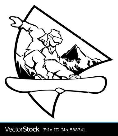 Snowboard Logo Vector Art Download Snowboard Vectors 588341 Snowboarding Tattoo Snowboard Art Snowboard