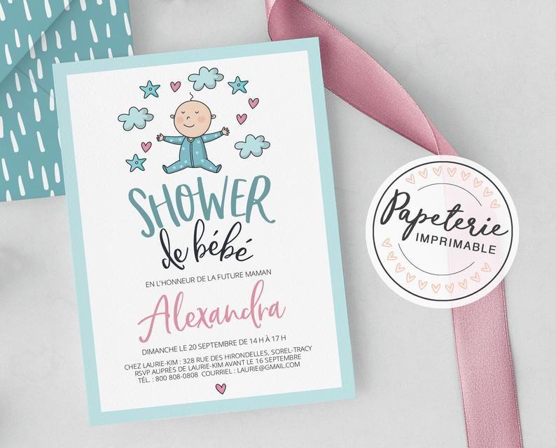 invitation en francais pour shower de