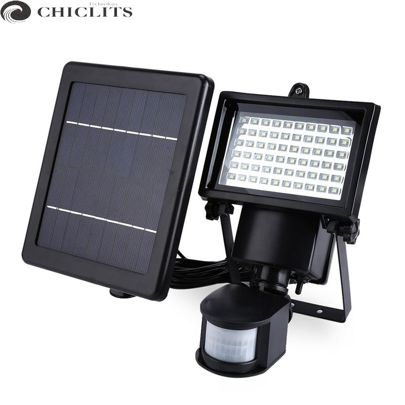 New Garden Solar Light With Motion Sensor Lamp 60leds Solar Panel Led Lamp Waterproof Outdoor Solar Floodlights Spotl Outdoor Wall Lamps Solar Lights Wall Lamp