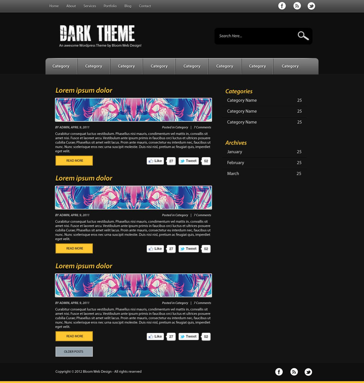 Design a dark minimal wordpress theme in photoshop tutorials design a dark minimal wordpress theme in photoshop baditri Image collections