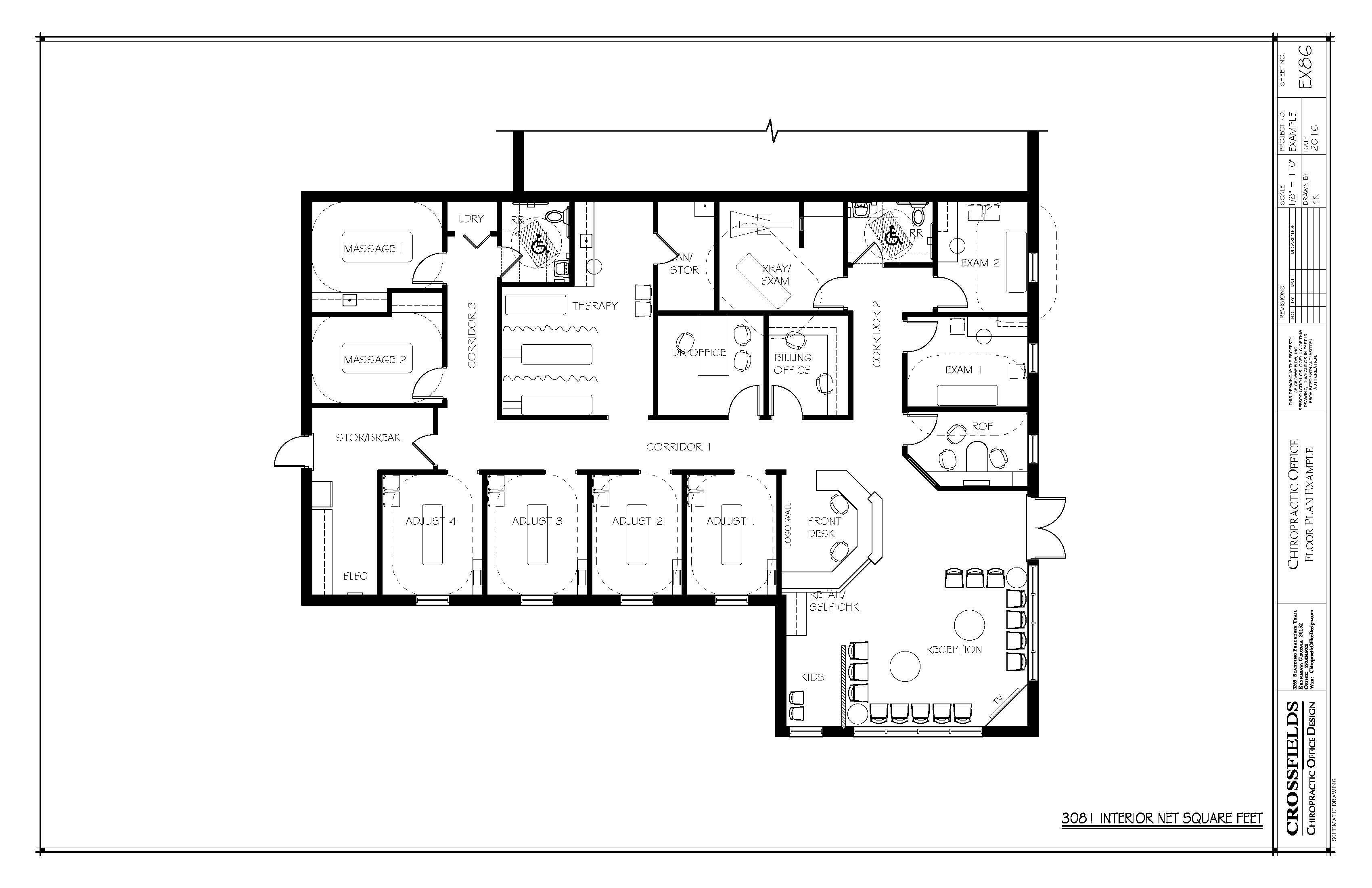 Chiropractic Office Floor Plans Versatile Medical Office Layouts Office Floor Plan Floor Plans How To Plan