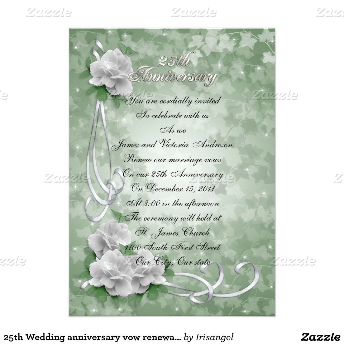 25th Wedding anniversary vow renewal White roses 5\