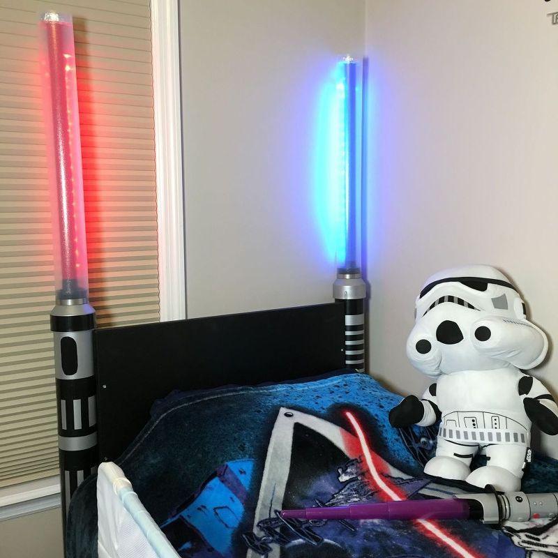 Lightsaber Headboard, Bedroom Ideas, Diy, Lighting, Woodworking Projects